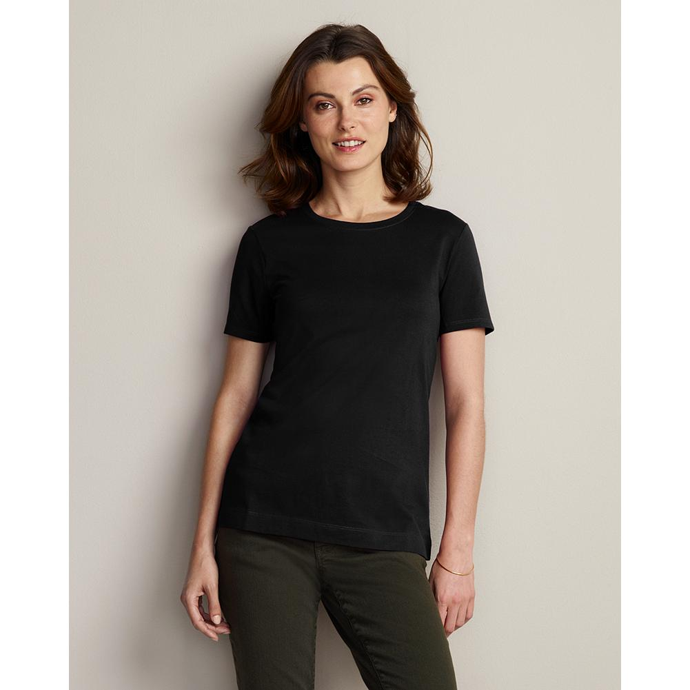 Eddie Bauer Pima Cotton Jersey Crewneck T-Shirt - From our pima cotton collection, which includes our finest-quality T-shirts. The longer, silkier cotton fibers yield a smoother fabric that's exceptionally comfortable and holds its shape, wash after wash. - $6.99