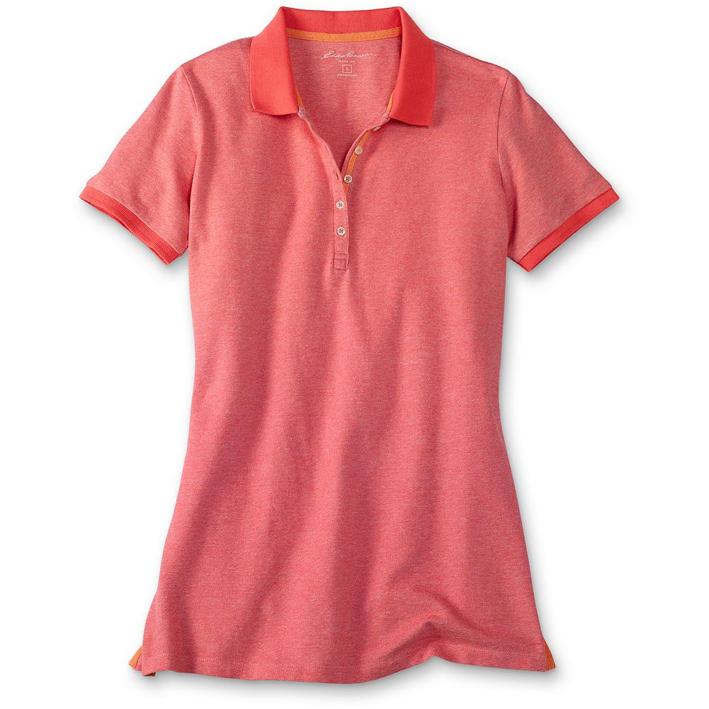 Hunting Eddie Bauer Bird's-Eye Pique Polo Shirt - Our popular pique polo refreshed with a subtle bird's-eye weave and vivid spring shades. Specially polished for softness. Color stays true, wash after wash. Classic fit. Imported. - $9.99