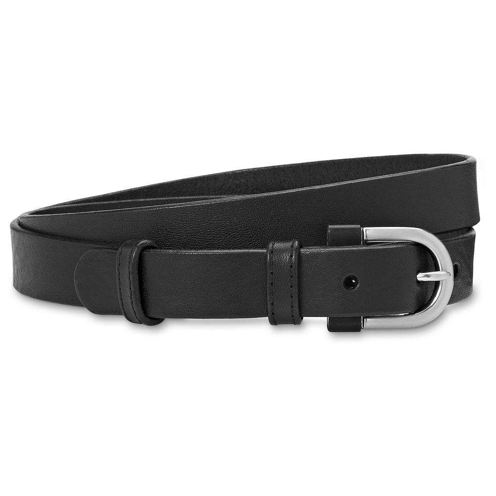 "Eddie Bauer Trouser Belt - You'll find our dressiest trouser belt simply indispensable whenever you want to add a touch of panache to your look. Leather with matte-finish buckle. 7/8""W. Imported. - $39.95"