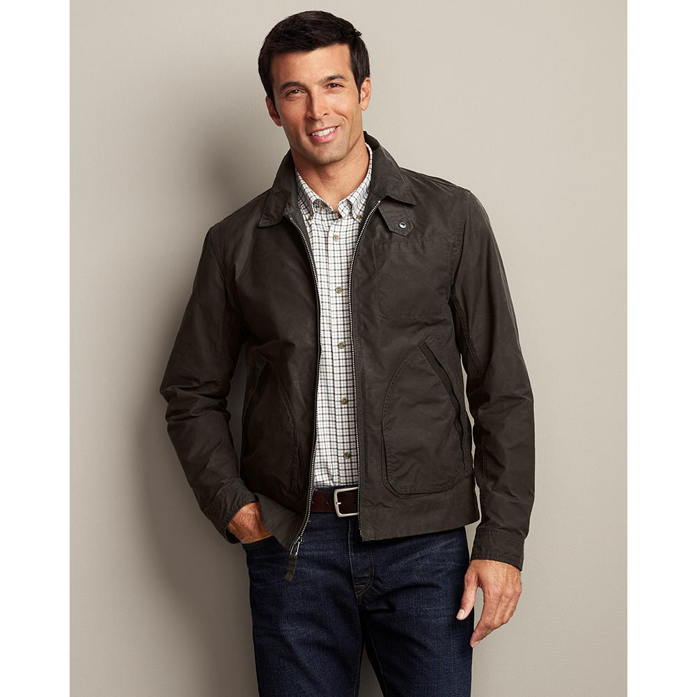 Entertainment Eddie Bauer Eddie Field Jacket - Ready, set-action. This versatile staple is made of a water-resistant cotton/nylon blend with a full-zip front and action back for ease of movement. - $69.99