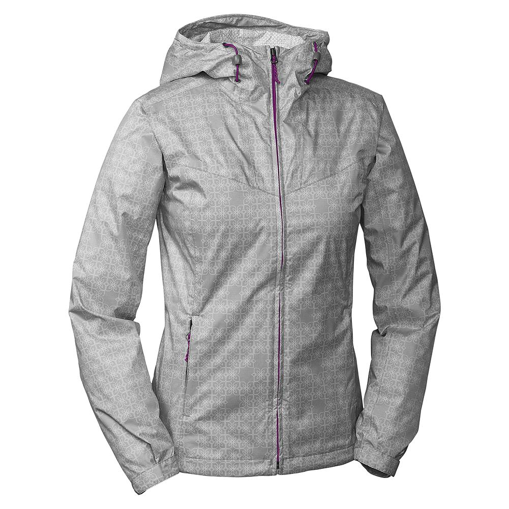 Eddie Bauer Printed RipPac Rain Jacket - Don't let the rain keep you inside. Stay dry and comfortable in wet weather with this fully seam-sealed, windproof, breathable and waterproof rain jacket. It's sturdy, two-and-a-half layered WeatherEdge nylon on the outside, and soft brushed tricot on the inside. Perfect for travel, this downpour-proof jacket also conveniently packs into its own pocket. Imported. - $39.99