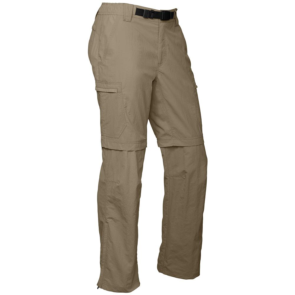 "Eddie Bauer Travex Convertible Pants - Travex pants are made with a fabric that performs under pressure and ideal for trekking and travelling. The legs on these convertible pants zip off to create 10 1/4""-inseam shorts. Mesh and secure zip pockets store trekking essentials. Half-elastic, moisture-wicking waistband and web belt. Articulated knees. Breathable, fast-drying, rugged nylon, with 50% recycled nylon content. UPF 50+. Imported. - $39.99"