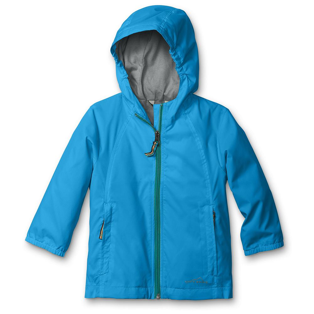 Entertainment Eddie Bauer Toddler Girls' RipPac Wind Jacket - Mountain Guide in Training(TM) Protect little girls from the elements with our hardworking jacket. Packs down into its own pocket when not in use, so it's easy to keep on hand. Constructed with secure zippered pockets, elastic cuffs and interior elastic on the sides of the hood. Fully lined in cotton. Imported. - $16.99