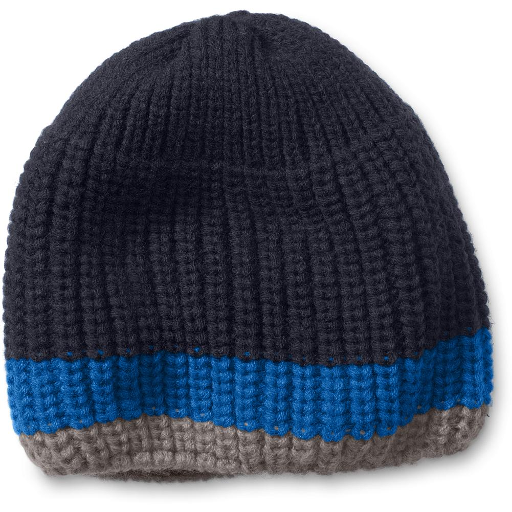 Eddie Bauer Kids' Basic Beanie - Mountain Guide in Training(TM) Our soft, cozy beanie is knit in a chunky stitch and finished with fun contrasting color stripes. Imported. - $12.95