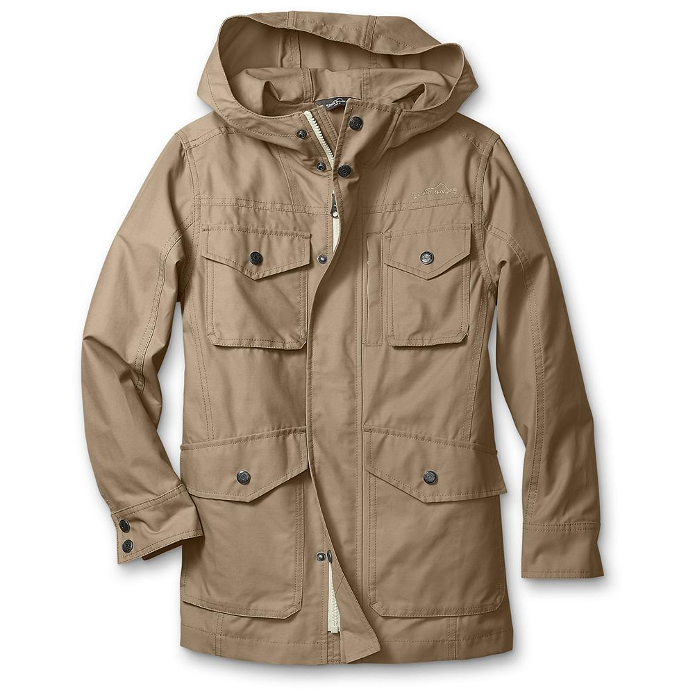 Entertainment Eddie Bauer Boys' Mountain Parka - Mountain Guide in Training(TM) A kid-sized version of our heritage Mountain Parka for adults. In a blend of cotton and nylon with a durable, water-repellent (DWR) finish for rain protection. - $29.99