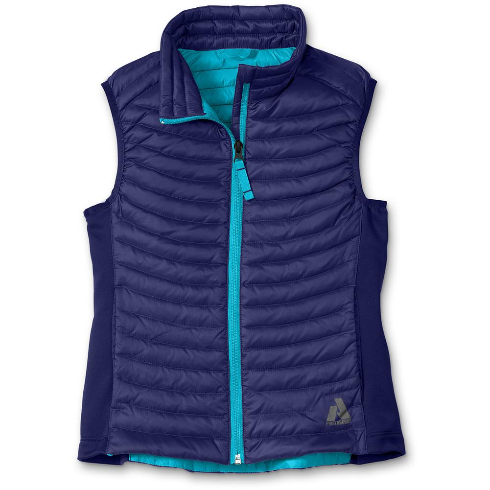 Entertainment Eddie Bauer Girls' MicroTherm(TM) Down Vest - Mountain Guide in Training(TM) Our revolutionary, ultra-light down layer, the MicroTherm(TM) vest is now for kids. Made with 600 fill Premium European Goose Down for exceptional warmth without weight. - $29.99