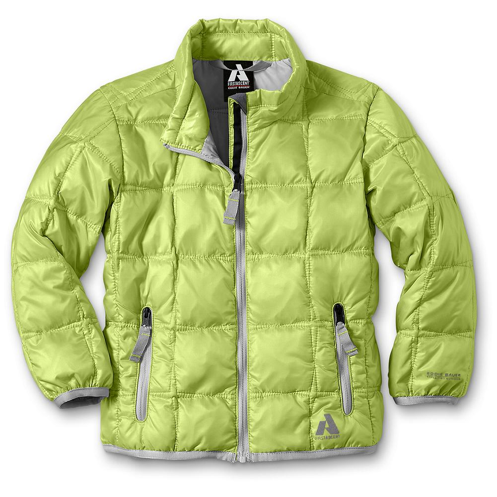 Entertainment Eddie Bauer Toddler Girls' First Ascent Downlight Jacket - Mountain Guide in Training(TM) A lightweight layer of water-repellent warmth in cheerful colors she'll love, this tot-sized version of our Downlight Jacket is made with a durable nylon shell and 600 fill power premium European goose down. Cozy but not bulky, it won't weigh her down during snow play. - $79.95