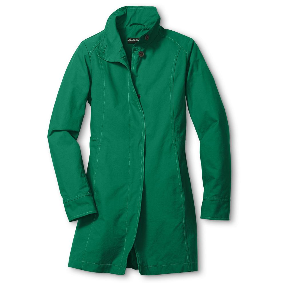 Entertainment Eddie Bauer Girls' Spring Trench - EB KIDS(TM) A charming, colorful layer that takes on spring showers with style. In a sleek blend of cotton and nylon, with buttons at the stand collar, hidden center front snaps and an interior security pocket. Imported. - $19.99