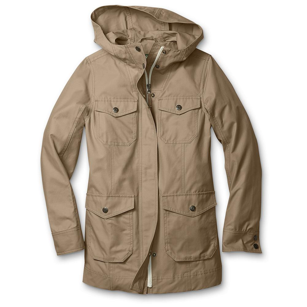 Entertainment Eddie Bauer Girls' Mountain Parka - Mountain Guide in Training(TM) A kid-sized version of our heritage Mountain Parka for adults. In a blend of cotton and nylon with a durable, water-repellent (DWR) finish for rain protection. - $19.99