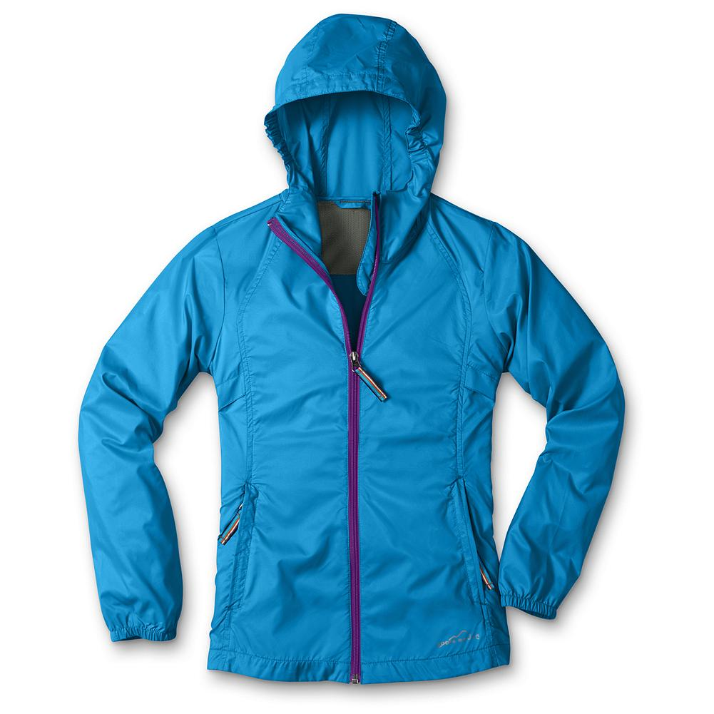 Entertainment Eddie Bauer Girls' RipPac Wind Jacket - Mountain Guide in Training(TM) Our RipPac Wind Jacket offers packable wind protection for girls. Constructed with underarm vents, secure zippered pockets, elastic cuffs and interior elastic at the sides of the hood. Packs into its own pocket when not in use, so it's easy to keep on hand. Imported. - $29.95