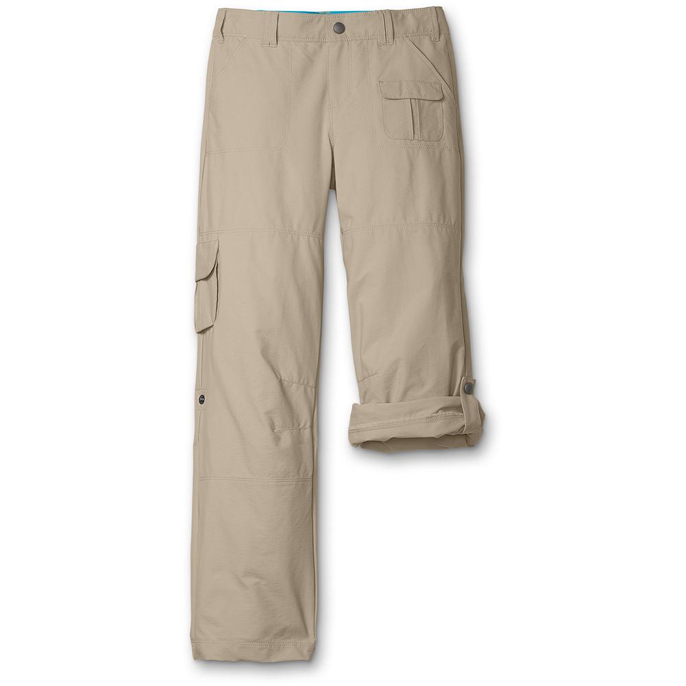 Eddie Bauer Girls' Travex Convertible Pants - Mountain Guide in Training(TM) The trek and trail performance of Travex in a convertible pair of pants for girls. With fast-dry, moisture-wicking and UV protection properties built into the fabric. - $39.95