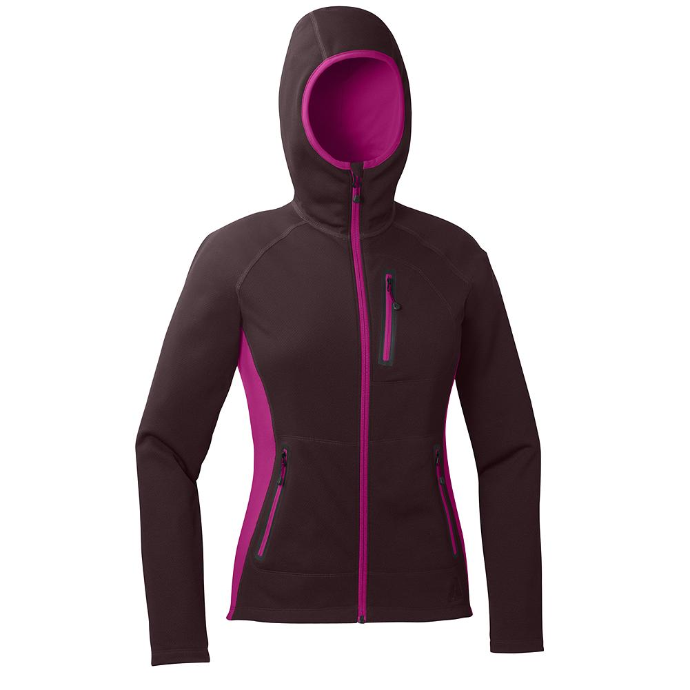 Entertainment Eddie Bauer Hangfire Hoodie - Discontinued Colors - A great insulating piece and outer jacket all in one. The hood locks in heat when you're in icy temps but looks good off when you're grabbing a drink in town. The outer fleece fabrics shed light precipitation. Highly breathable for layering and high aerobic pursuits.              Watch Product Demo - $59.99