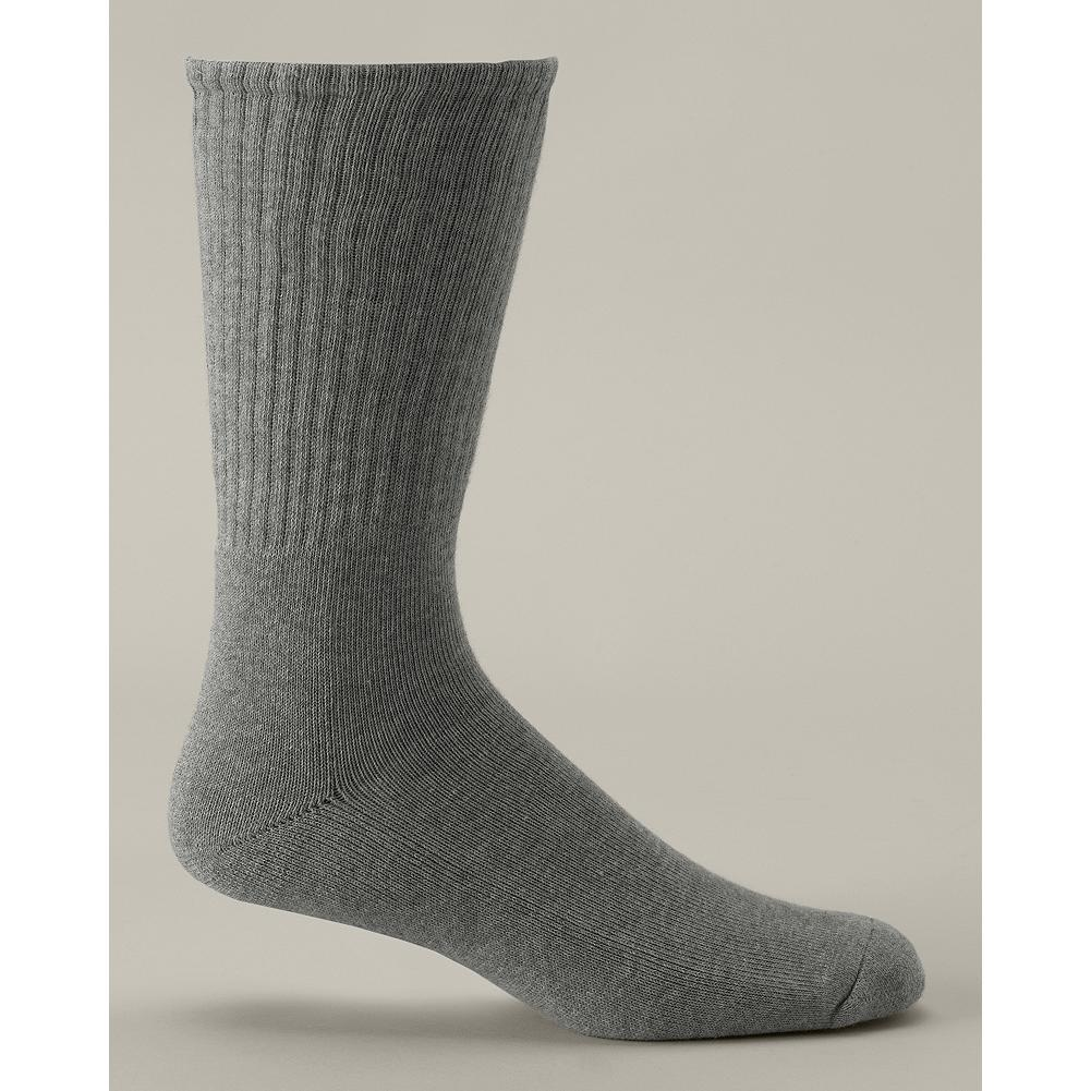 Eddie Bauer Everyday Cushion Foot Socks - The perfect socks to cushion your feet whether you're busy at work or relaxing at home. Added spandex around the cuff keeps the sock up, while the combed cotton and nylon blend provides exceptional comfort. Fits US Men's shoe size 8-12. Imported.. - $9.95