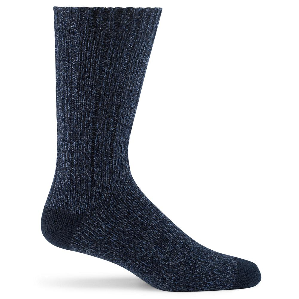 Eddie Bauer Marled Cotton Socks - These versatile crew socks are knit from marled cotton-blend yarns for subtle texture and reliable comfort. Fits US Men's shoe size 8-12. Imported - $4.99