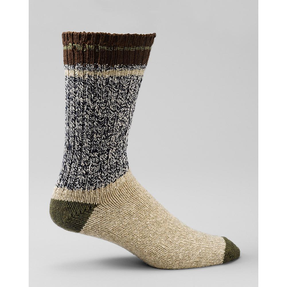 Eddie Bauer Striped Boot Socks - Our boot-length socks are made of soft, absorbent cotton for all-day comfort, and finished with a color-blocked heel and toe, plus a contrasting stripe at the top. Fits US Men's shoe size 8-12. Imported. - $15.00