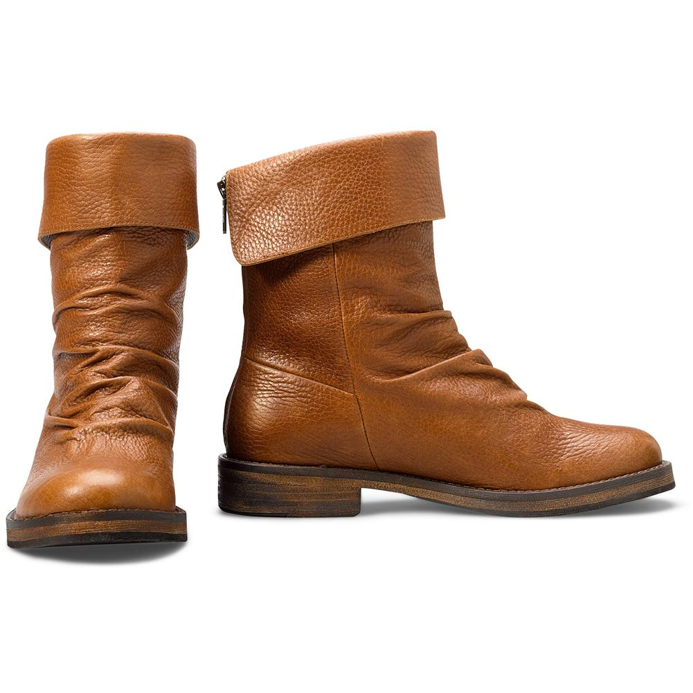Eddie Bauer Zip Cuff Boots - To cuff or not to cuff: it's all up to you. Thanks to pillowy padded footbeds, this supple pair is just as much about comfort and support, as it is about modern style. Durable rubber soles deliver the traction you need. - $49.99
