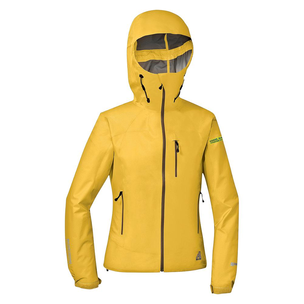 Camp and Hike Eddie Bauer BC-200 Hard Shell Jacket - It's never been done. A 3-layer, waterproof/breathable hard shell with 20K/25K performance and complete welded-seam construction that's under 11 oz. AND under $200. All the protection of a seaman's storm jacket. Yet so breathable and lightweight you can wear it anywhere, any day of the year. Perfect for hiking, climbing, cycling or any other time when you're active and the weather's nuking. The helmet compatible hood is oversized for helmets but can be cinched down to work without. Quite possibly the most versatile gear you'll ever own. The breakthrough fabric, exclusive to Eddie Bauer First Ascent, puts this ultralight in a class by itself. - $99.99