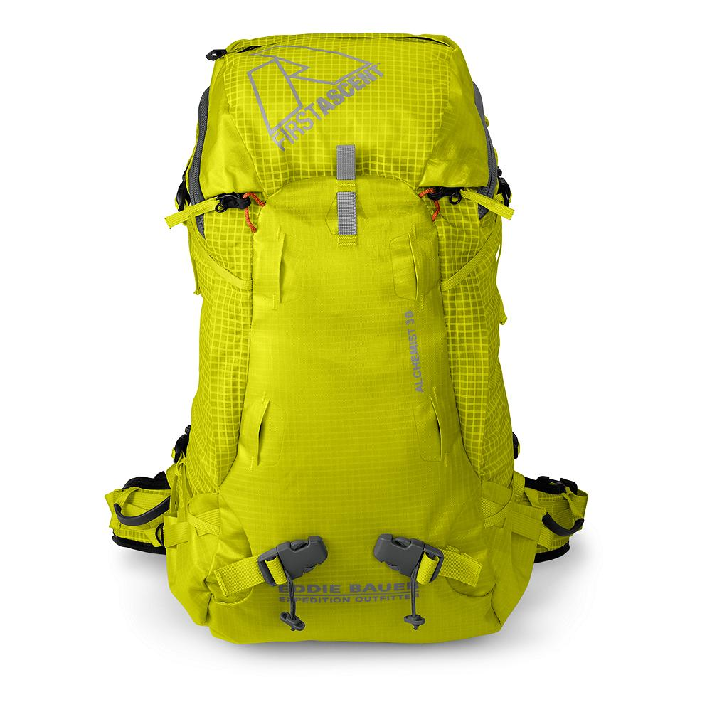 Camp and Hike Eddie Bauer Alchemist 30L Backpack - For single-day climbs or mountain training missions, this Alchemist 30L Pack is sized  perfectly to fit the essentials for a long day at elevation. The structured support system easily hauls dense, heavy loads of climbing hardware over rough terrain. - $139.00