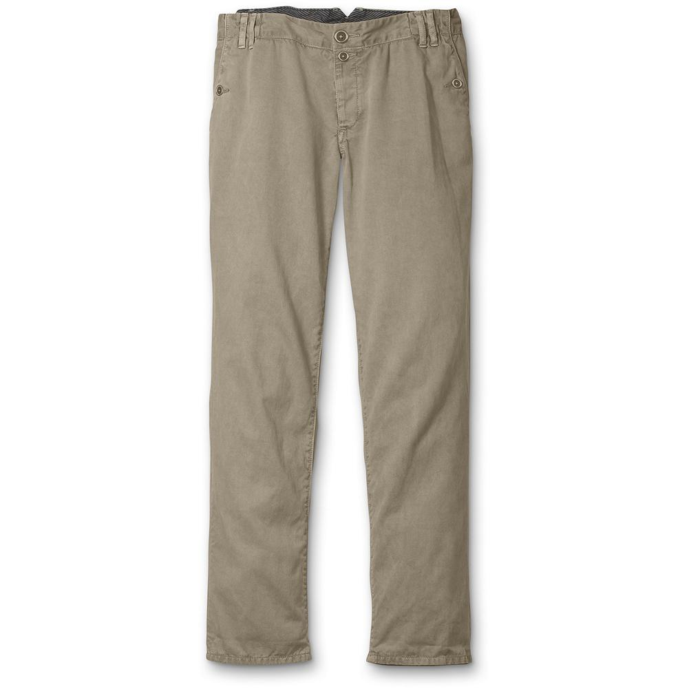"Eddie Bauer Mercer Fit Legend Wash Cropped Pants - The best of both worlds-our relaxed Mercer fit in our luxuriously soft Legend Wash. Inseam: 29"". Length rolled: subtract 5.5"" from inseam. Imported. - $14.99"