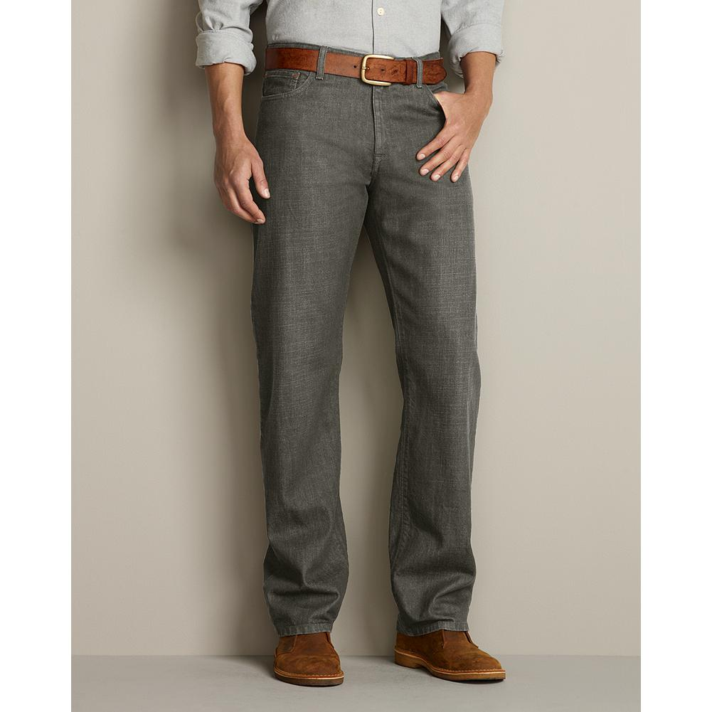 Eddie Bauer Relaxed Fit Color Bull Denim Jeans - Inspired by outdoor hues, these jeans are made with exceptionally soft, washed cotton that creates a relaxed, slightly slouchy look. Authentically worn in all the right places. Relaxed fit. Imported. - $17.99