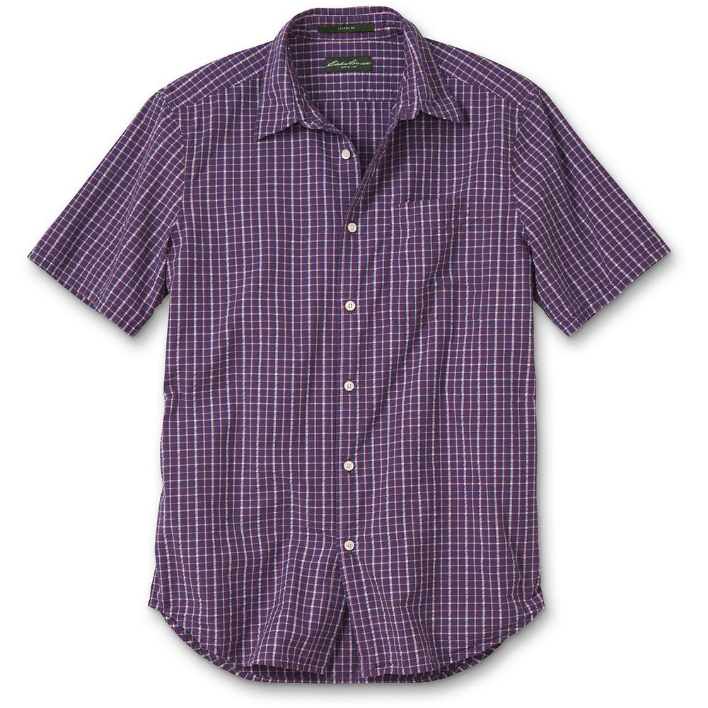 Eddie Bauer Classic Fit Bainbridge Seersucker Shirt - Our new Classic fit is comfortable for most men, sitting near the body without any constriction. Like all our new fits, it's been reengineered for maximum comfort and easy movement, with back pleats, slightly larger sleeves at biceps, slightly deeper armholes, ample body length, and a comfortable neck. (Please see Men's Size Chart for more information.) We've woven seersucker yarns right into the fabric to give our shirt a textural, spring-ready look. Imported. - $11.99