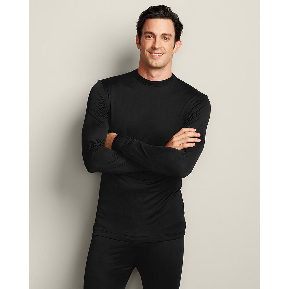 Eddie Bauer Performance Silk T-Shirt - What could feel more luxurious against your skin than pure silk? Especially when it's helping to maintain your body heat in cold winter conditions. Layers well underneath clothing without adding a bulking appearance. Imported.. - $19.99