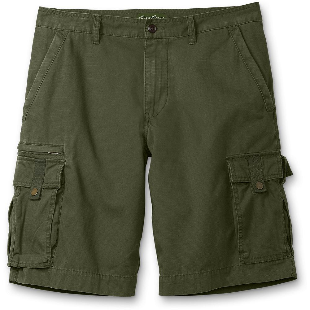 "Fitness Eddie Bauer Versatrek(TM) Cargo Shorts - Durable ripstop, ready for outdoor adventures or casual weekends. Plenty of pockets in multiple sizes. Now with more room in the seat and rise for an easier, more comfortable fit. Inseam: 11"". Imported. - $9.99"