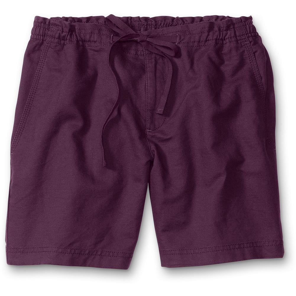"Eddie Bauer Linen/Cotton Shorts - A super-comfy blend in our popular weekend fit. Drawcord waist with elastic back and back and side pockets. Inseam: 6"". Imported. - $9.99"