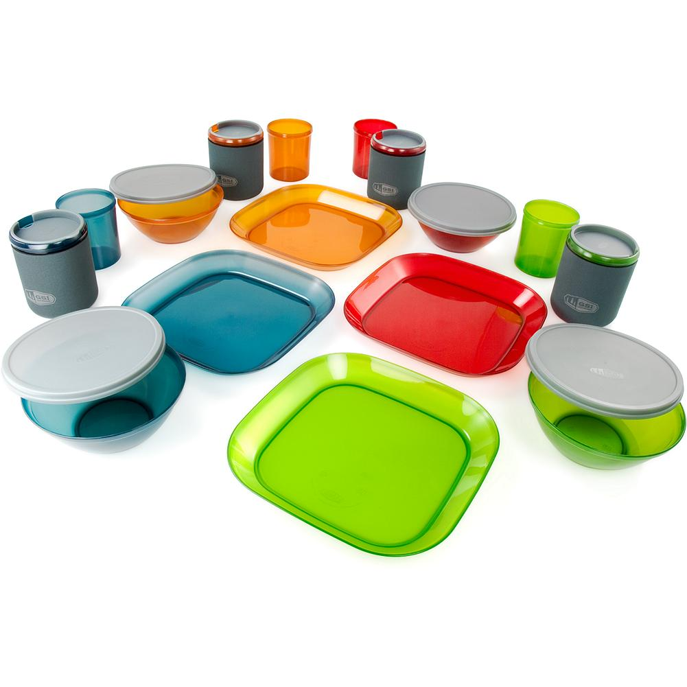 Camp and Hike Eddie Bauer GSI Outdoors Infinity 4-Person Deluxe Table Set - Everything you need to set your table outdoors just the way you like it. Color-coded items are clean, green, non-leaching, 100% recyclable and BPA-free. Imported. - $29.99