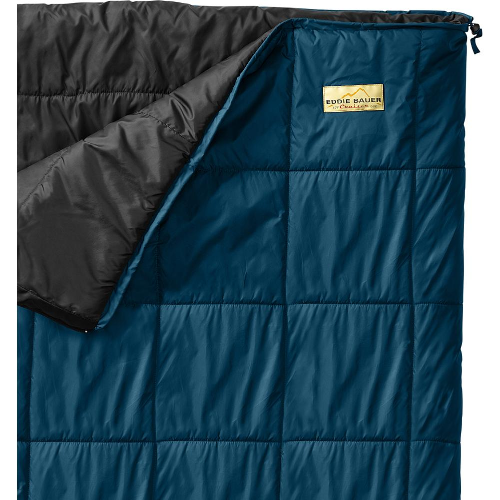 Camp and Hike Eddie Bauer Cruiser +40deg Sleeping Bag - Comfortable and warm with box quilt construction. 40-denier ripstop nylon shell with synthetic insulation. Imported. - $69.95