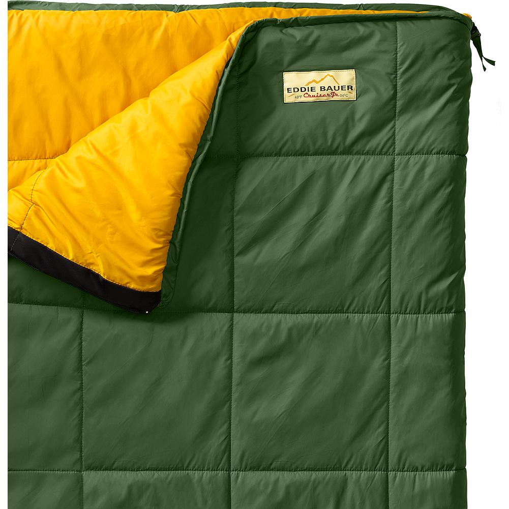 Camp and Hike Eddie Bauer Kids' Cruiser +40deg Sleeping Bag - Mountain Guides in Training(TM) Our junior-sized Cruiser sleeping bag keeps kids comfortable and warm with box quilt construction. 40-denier ripstop nylon shell with synthetic insulation. - $49.95