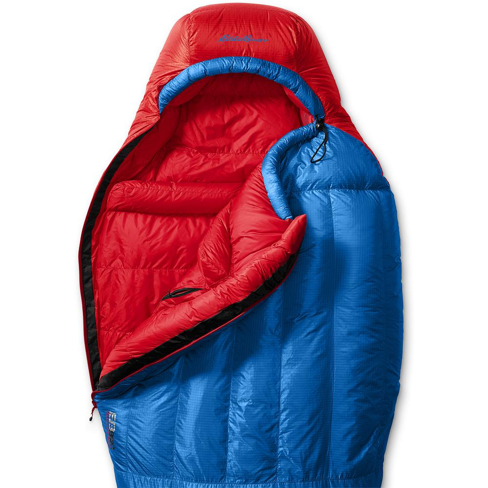 "Camp and Hike Eddie Bauer Karakoram +20deg Down Sleeping Bag - Our original Kara Koram bags became legends in the mountaineering realm. Our new high-tech and highly acclaimed reintroduction takes back the title as the ultimate high-altitude sleeping bag. From the Karakoram to the North Cascades, this ultralight mummy handles the highest and coldest extremes. 850 fill Premium European Goose Down delivers high-performance warmth and loft. The 20-Denier Pertex shell is abrasion resistant and ultralight. An interior pocket keeps electronic essentials safe from freezing temperatures. Three-dimensional footbox design for maximum comfort and space. Imported. Unisex.  ""Warmth-to-weight-to-comfort. That's the key ratio for sleeping bags, and this versatile 850-fill down sack nails it. And it does it for less than $300."" - Backpacker Magazine - $349.00"