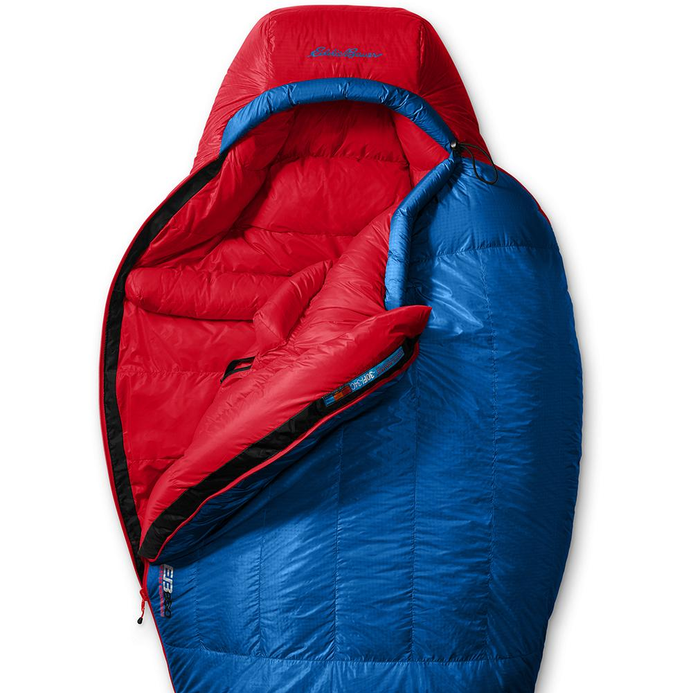 Camp and Hike Eddie Bauer Karakoram -30deg Down Sleeping Bag - Our original Kara Koram bags became legends in the mountaineering realm. Our new high-tech reintroduction reclaims the title as the ultimate high-altitude sleeping bag. From the Karakoram to the North Cascades, this ultralight mummy handles the highest and coldest extremes. 850 fill Premium European Goose Down delivers high-performance warmth and loft. The 20-denier Pertex Endurance DWR nylon shell sheds wet weather and resists abrasion. An interior pocket keeps electronic essentials safe from freezing temperatures. Three-dimensional footbox design for maximum comfort and space. Imported. Unisex. - $599.00