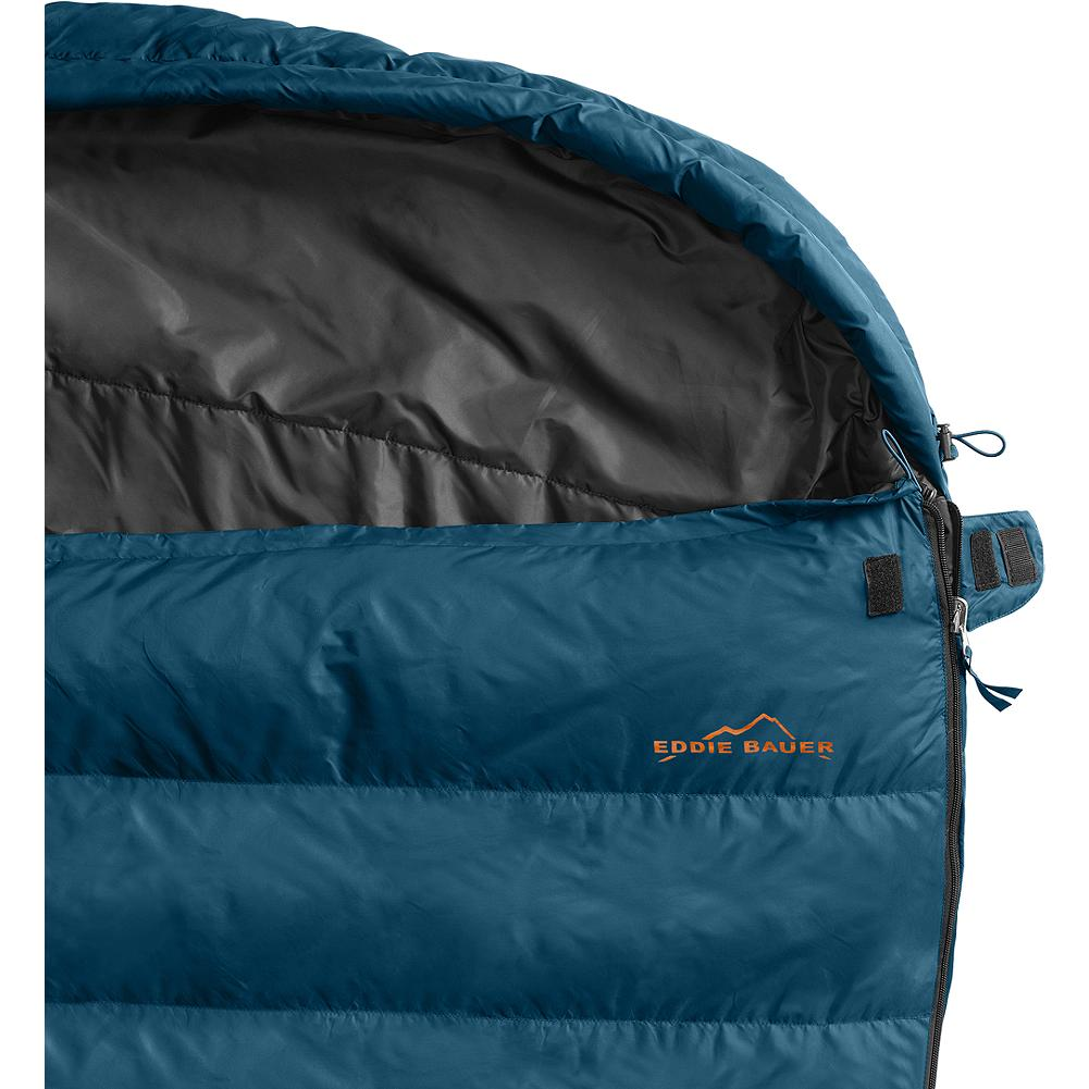 Camp and Hike Eddie Bauer RV King 2 Person Sleeping Bag - Whether you're camping in the backyard, basement, or cabin, the RV King is a versatile choice for keeping out the cold and providing a good night's rest. Unzip the bag completely to create two separate sleeping bags - $249.00