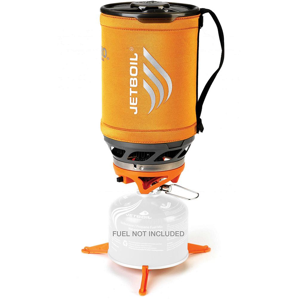 Camp and Hike Jetboil Sumo(TM) Aluminum Group Cooking System - A true 4-season upright canister cooking system that integrates the all-weather Sol burner with the high-capacity Sumo Aluminum Cup. The result is an unmatched blend of power, convenience, and efficiency for the full range of group back country cooking. Advanced Jetboil Thermo-Regulate(TM) Burner Technology delivers consistent heat output down to 20degF. Convenient push-button ignitor with insulating drink-through lid and measuring cup. Compatible with all Jetboil accessories. Pot support and stabilizer tripod included. Made in USA. - $84.99