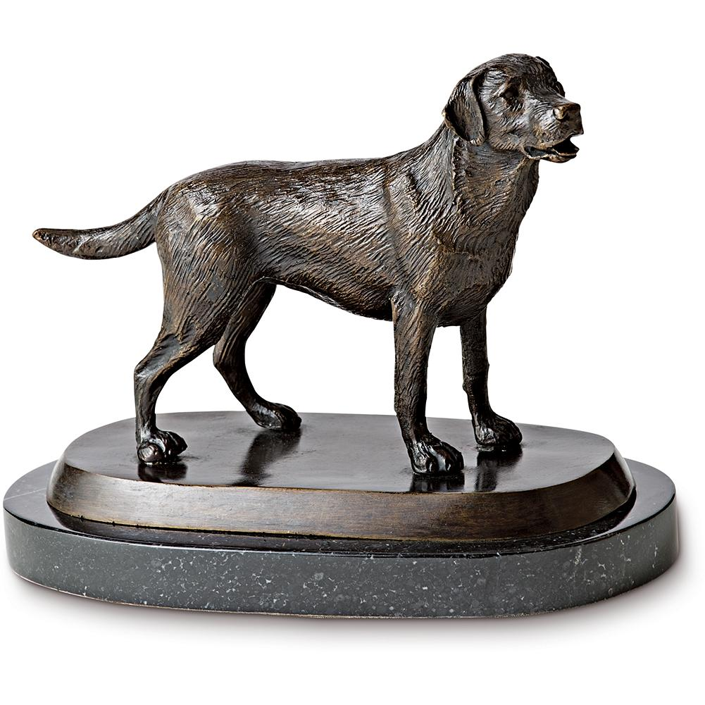 Entertainment Eddie Bauer Cast Bronze Lab Statue - A charming, quality gift for dog lovers. Cast in bronze and set on a marble base. Imported. - $119.99