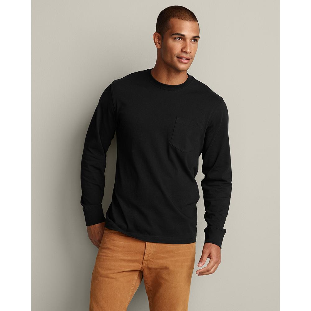 Eddie Bauer Long Sleeve Classic Fit Legend Wash Pocket T-Shirt - Classic tees demonstrate our unwavering commitment to the basics of outstanding quality and excellent value. Imported. - $24.95