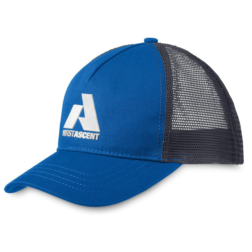 Eddie Bauer Trucker Hat - With an adjustable back and a bold, centered logo, this traditional trucker style is ideal for both on-hill and in-town use. Ascent Blue coloration flies the branded flag in any situation. - $9.99