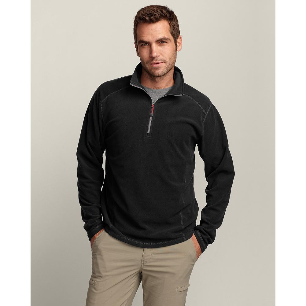 Eddie Bauer Fast Fleece 1/4-Zip - Fast fleece offers up the quickest way to get warm. This light 100-weight, supersoft pull-over has a bit of stretch for comfort, is pill-resistant, and will soon prove to be your favorite cold-weather layering companion or cool-weather go-to style. Contrast zip. Imported. - $19.99