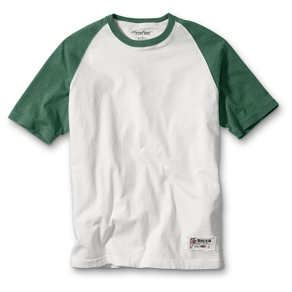 Sports Eddie Bauer Classic Fit Baseball T-Shirt - Classic athletic details and soft combed cotton distinguish this comfortable, easygoing tee. With color-blocked raglan sleeves. Classic fit. Imported - $24.95