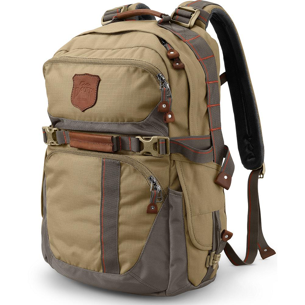 Camp and Hike Eddie Bauer Adventurer All-Around Backpack - Quite simply the ultimate all-round pack-roomy, comfortable, and rugged, it's built and overbuilt to last a lifetime of world travels, daily commutes, weekend hikes and every other kind of adventure that calls. Made of super-tough 500-denier Cordura nylon that's further reinforced with a ballistic nylon bottom. Throw it, stow it, sling it, or drag it. You won't wear it out. - $99.95