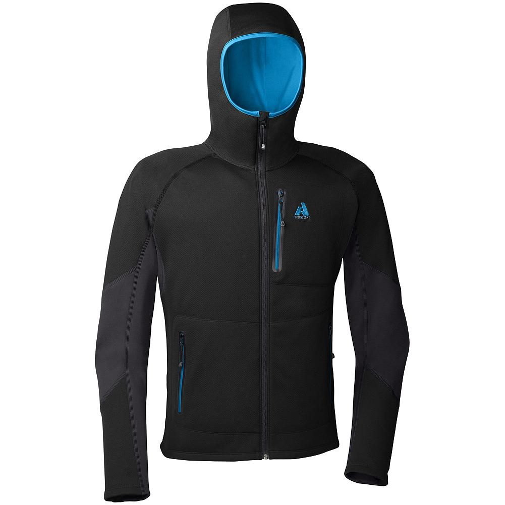 Eddie Bauer Hangfire Hoodie - A great insulating piece and outer jacket all in one. The hood locks in heat when you're in icy temps but looks good off when you're grabbing a drink in town. The outer fleece fabrics shed light precipitation. Highly breathable for layering and high aerobic pursuits. - $99.00