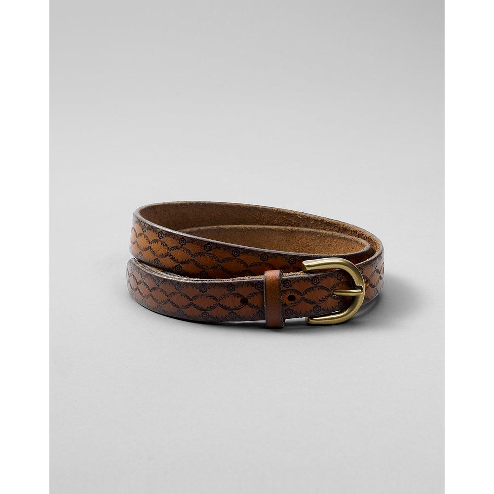 "Eddie Bauer Tooled Floral Belt - An intricate embossed design and painted edges grace this leather belt. 3/4"" W. - $11.99"