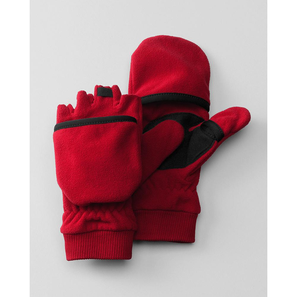 Eddie Bauer Kids' Convertible Fleece Gloves - Mountain Guide in Training(TM) Our convertible fleece gloves adapt to any winter activity with mitten flaps that flip back and secure to the top of the hand to reveal inner fingerless gloves. - $12.95