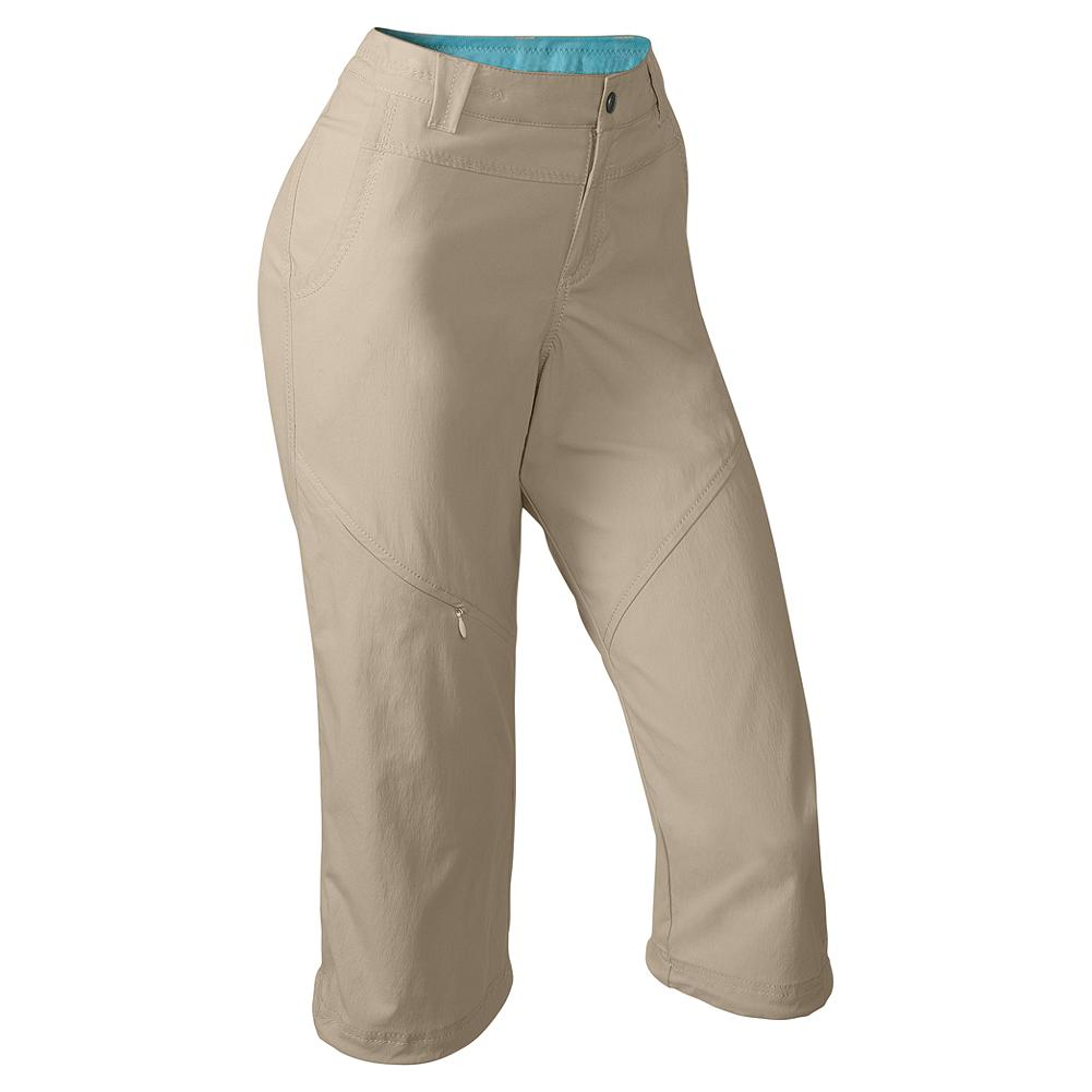 Eddie Bauer Travex Capris - Travex is made for trekking and traveling. Lightweight, packable and perfectly comfortable, it's an easy wear-and-care fabric that keeps you cool and comfy on the go. These capris dry quickly and have a hint of stretch for comfort. Secure zip pockets on thigh and back safely stow valuables. Articulated knees. UPF 50+. Active fit. Imported. - $29.99