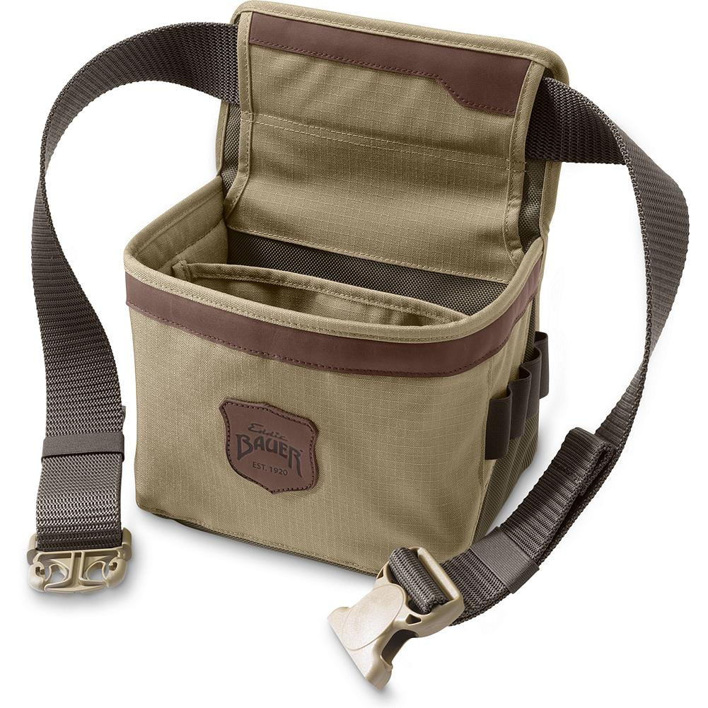 Hunting Eddie Bauer Adventurer Range Belt - Keep all your hunting essentials well-organized and close by. Padded for consistent shape with dual compartments to hold two boxes of shells and room for empties. End pocket for extra ear protection. and two choke tube loops. Imported. - $34.95