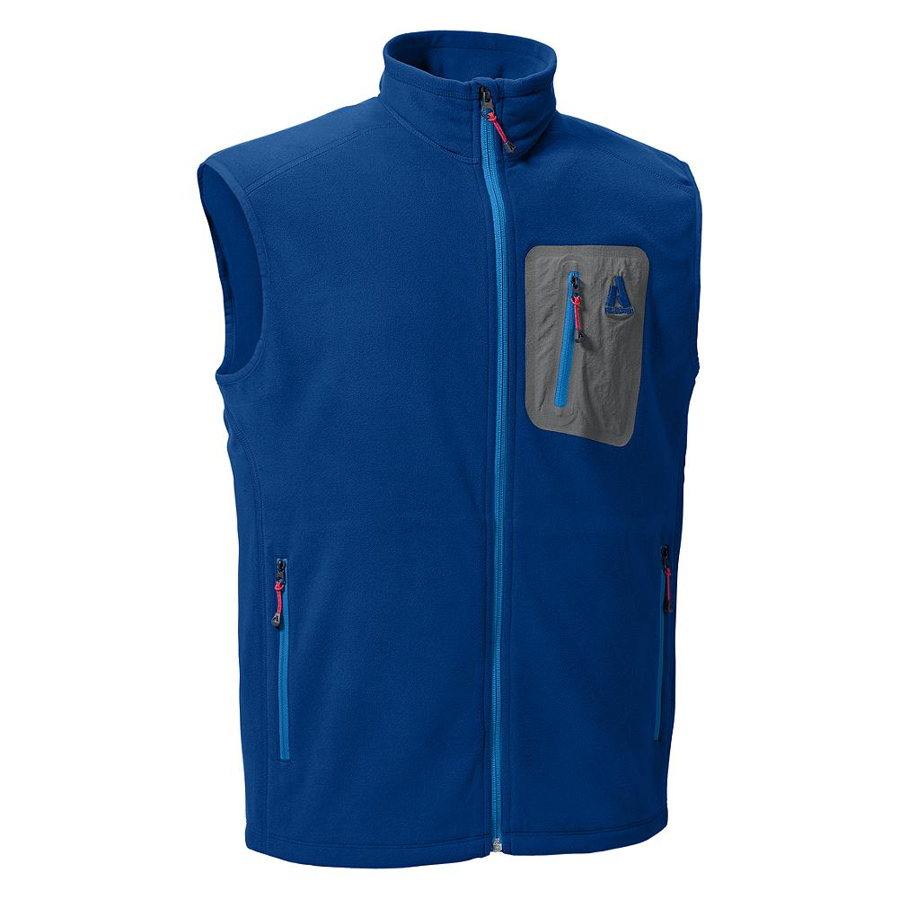 Eddie Bauer Cloud Layer Fleece Vest - The vest version of our most popular technical fleece, this core warmer also has casual appeal. Wear it over a thin baselayer for extra comfort and warmth when you're on the mountain, and throw it over a T-shirt when you're headed out to dinner.   Full-length front zipper has a locking mechanism that engages when the pull tab is pressed flat against the zipper. - $24.99