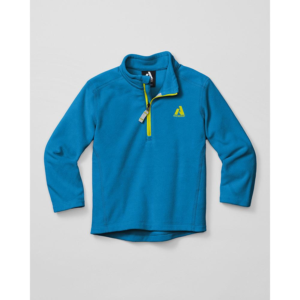 Eddie Bauer Toddler Girls' Cloud Layer Fleece 1/4-Zip - Mountain Guide in Training(TM) Our best-selling Cloud Layer Fleece pullover, sized and styled for toddler girls. Lightweight, quick-drying polyester microfleece resists pilling. 1/4-zip neck. - $9.99