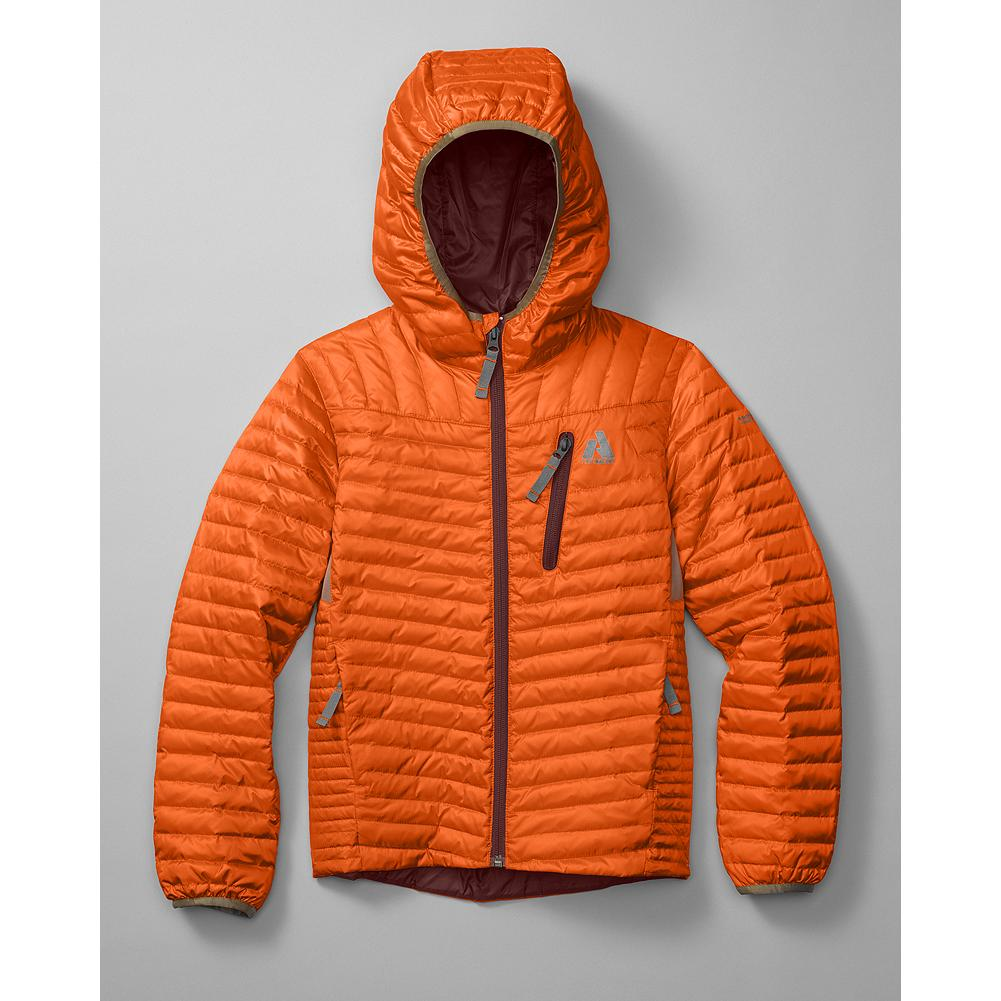 Eddie Bauer Boys' MicroTherm(TM) Down Hoodie - Mountain Guide in Training(TM) An incredibly thin and lightweight hoodie with 600 fill Premium European Goose Down to keep your little adventurer cozy and warm. - $49.99
