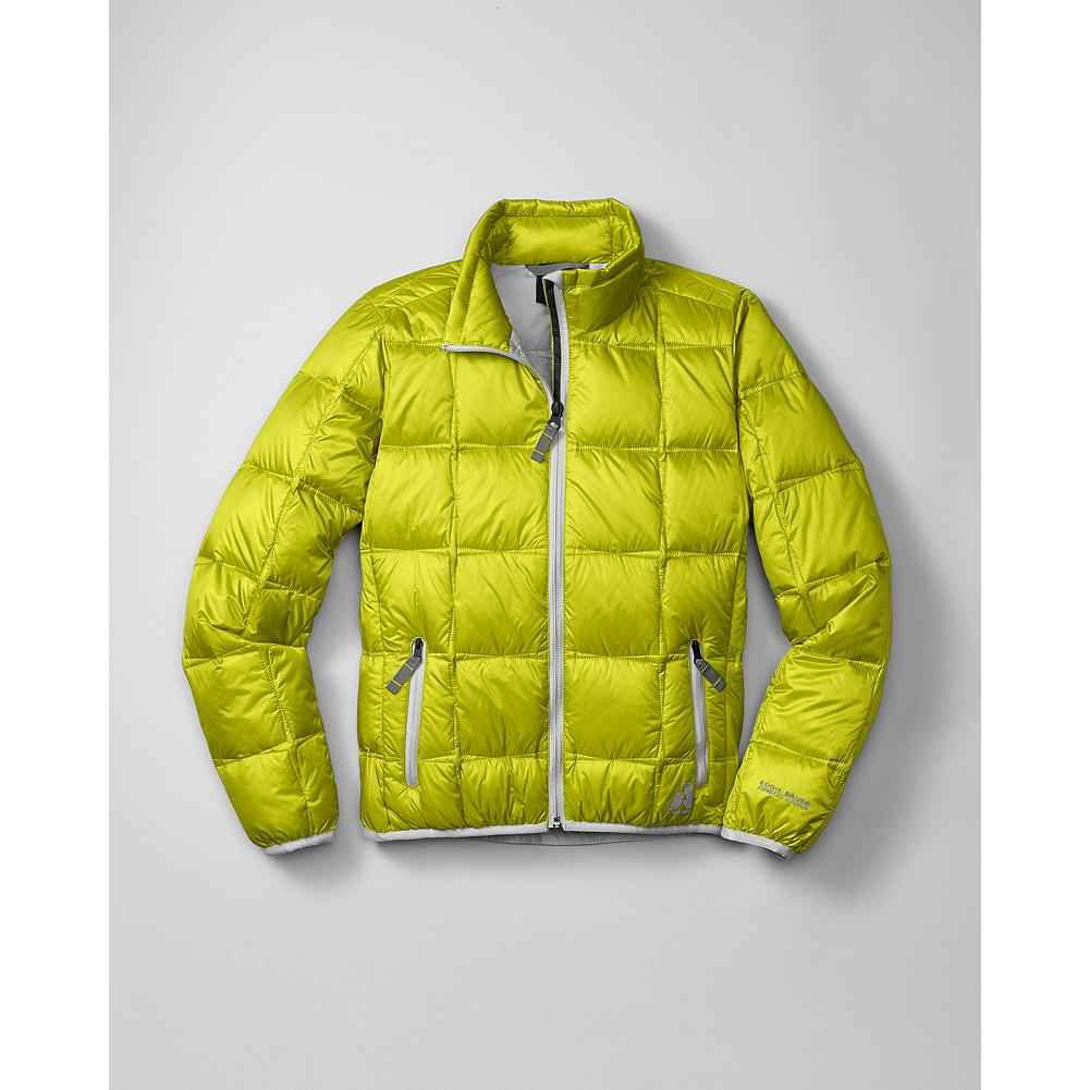 Eddie Bauer Girls' Downlight Jacket - Mountain Guide in Training(TM) This version of our best-selling Downlight Jacket is perfectly sized for young adventurers. 600 fill Premium European Goose Down provides the lightest, warmest insulation. Period. Zippered handwarmer pockets and elastic binding at the cuffs and hem. - $29.99